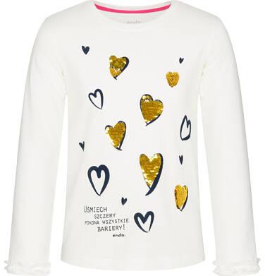 Endo - Bluzka z długim rękawem dla dziewczynki, mam dobry dzień, złamana biel, 3-8 lat D92G035_1 12