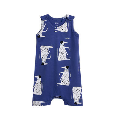 Endo - Rampers dla dziecka do 2 lat, deseń z psem w kropki, niebieski N03N017_1 12