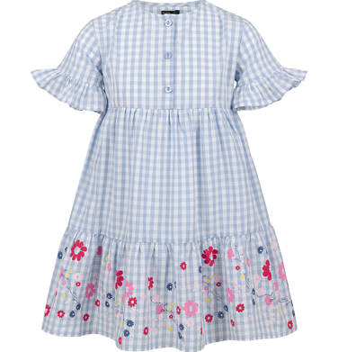 Endo - Sukienka w kratę, deseń w kwiaty, 2-8 lat D03H033_1 29