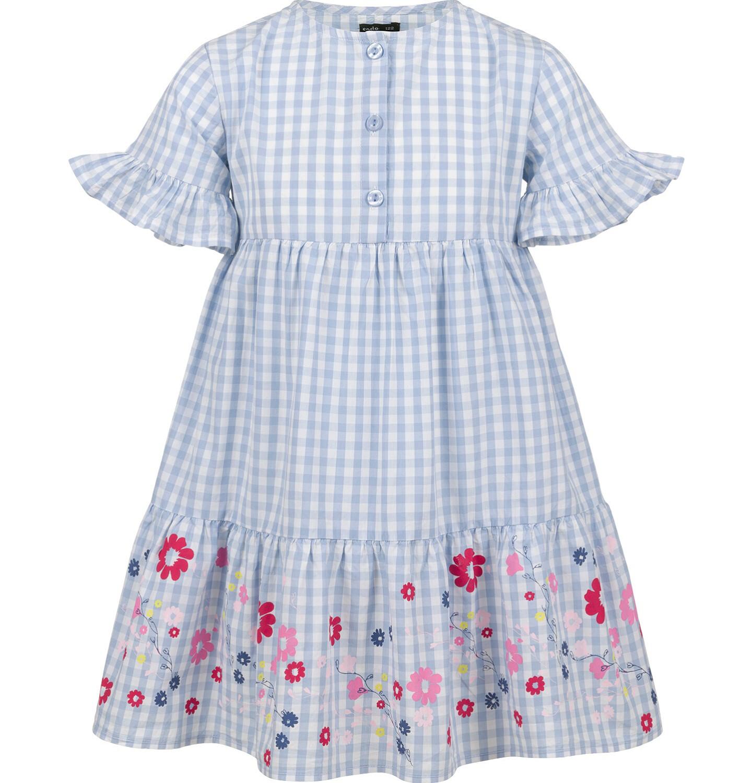 Endo - Sukienka w kratę, deseń w kwiaty, 9-13 lat D03H533_1