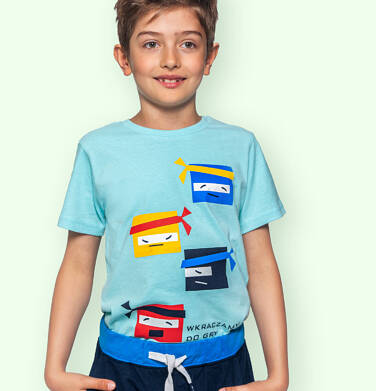 Endo - T-shirt z krótkim rękawem dla chłopca, motyw ninja, niebieski, 3-8 lat C06G134_1 8