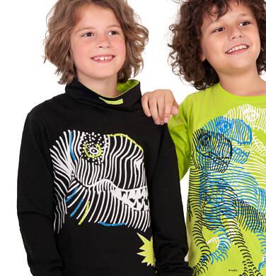 Endo - Bluza z dinozaurem dla chłopca, czarna, 9-13 lat C04C038_1 22