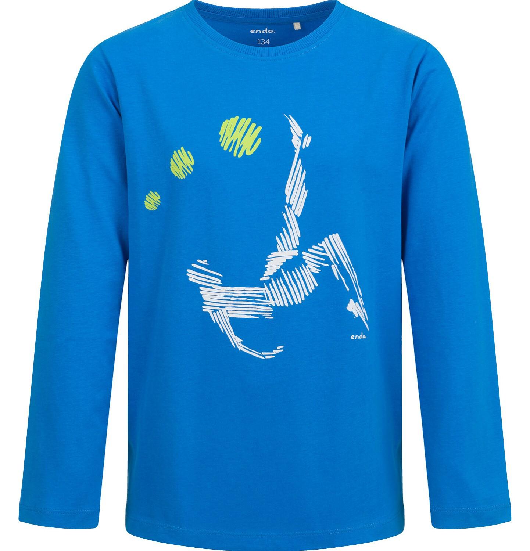 Endo - T-shirt z długim rękawem dla chłopca, sportowy motyw, 9-13 lat C04G003_1