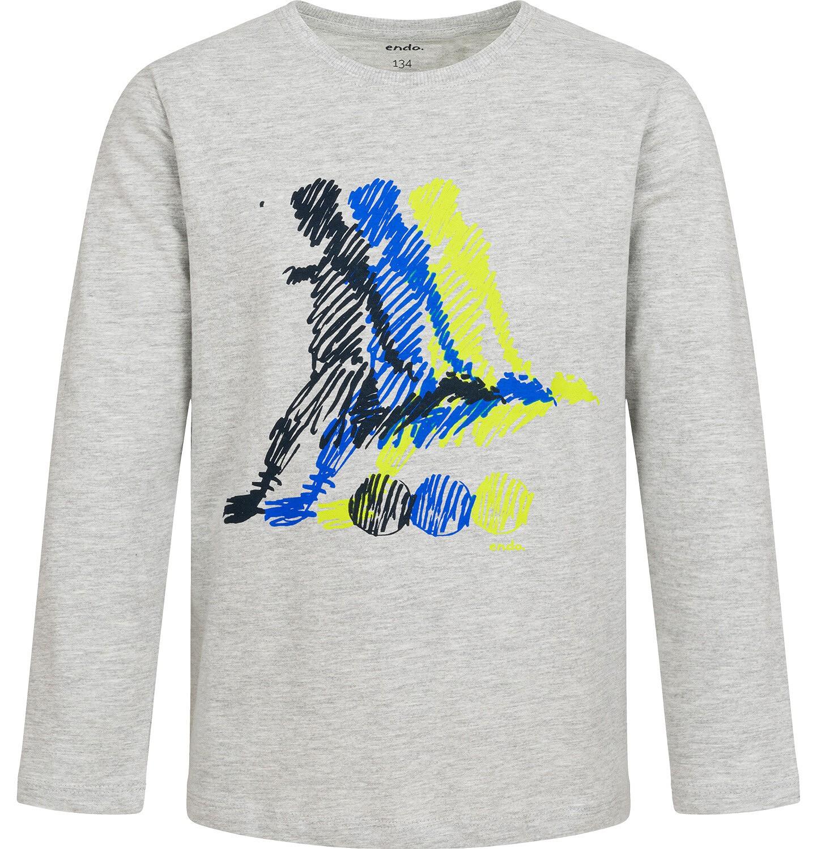 Endo - T-shirt z długim rękawem dla chłopca, sportowy motyw, 9-13 lat C04G007_1