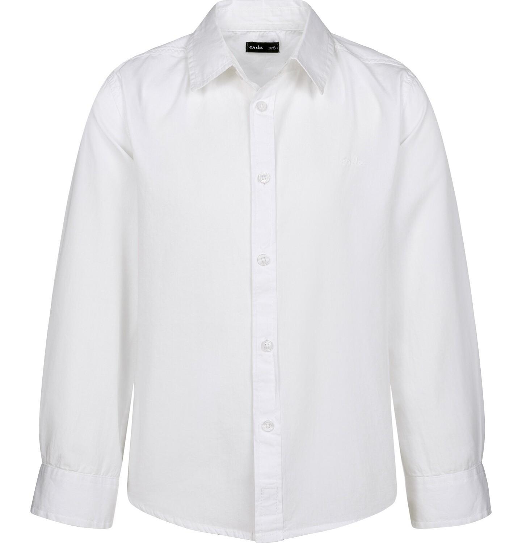 Endo - Koszula z długim rękawem dla chłopca, z kołnierzykiem, biała, 2-8 lat C03F001_1
