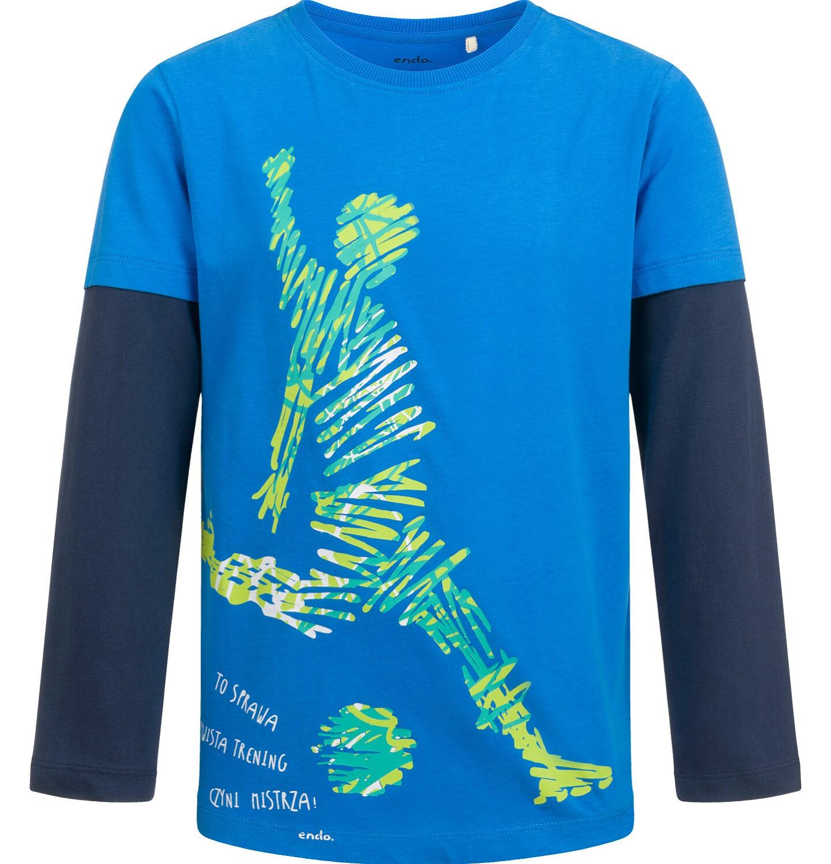 Endo - T-shirt z długim rękawem dla chłopca, sportowy motyw, 9-13 lat C04G009_1