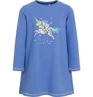 Endo - Sukienka z długim rękawem dla dziewczynki 3-8 lat D92H058_1