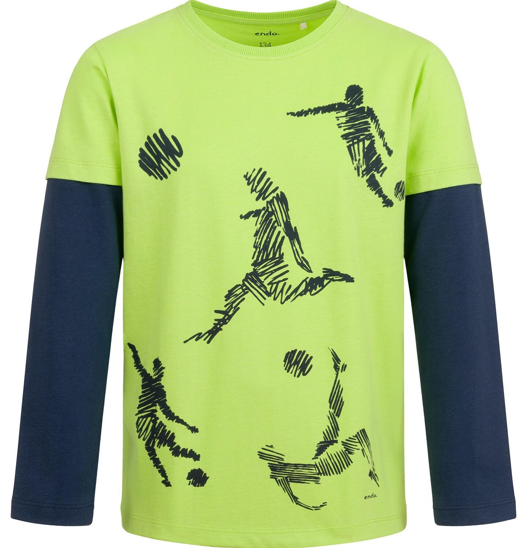 Endo - T-shirt z długim rękawem dla chłopca, sportowy motyw, 9-13 lat C04G010_1