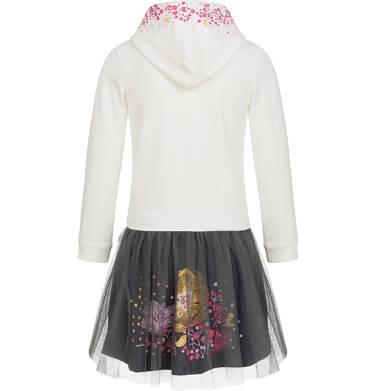 Endo - Sukienka z kapturem i długim rękawem dla dziewczynki 3-8 lat D92H055_1