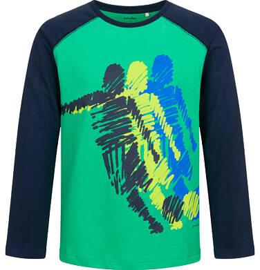 T-shirt z długim rękawem dla chłopca, sportowy motyw, 9-13 lat C04G011_1