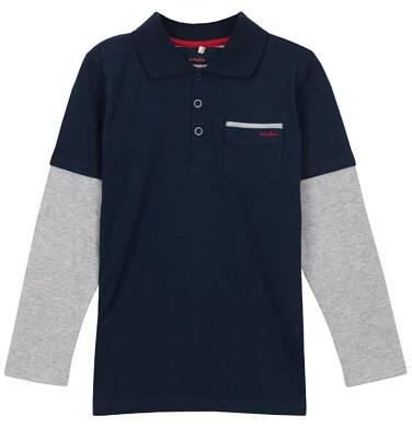 Endo - Koszulka polo z długim rękawem dla chłopca 3-8 lat C62G011_1