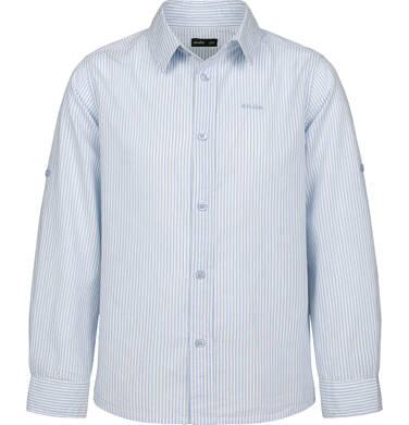Endo - Koszula z długim rękawem dla chłopca, z kołnierzykiem, w biało-niebieskie paski, 9-13 lat C03F503_1,1