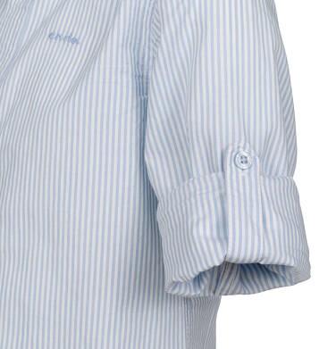 Endo - Koszula z długim rękawem dla chłopca, z kołnierzykiem, w biało-niebieskie paski, 9-13 lat C03F503_1,2