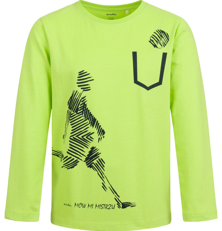 Endo - T-shirt z długim rękawem dla chłopca, sportowy motyw, 9-13 lat C04G015_1