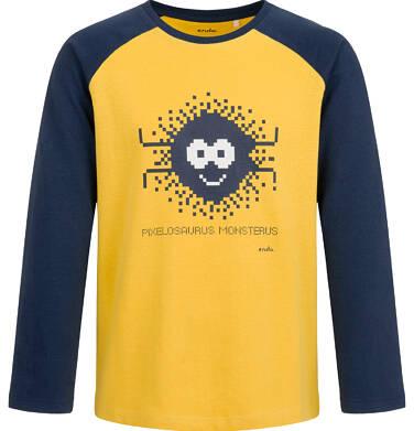 Endo - T-shirt z długim rękawem dla chłopca, żółty, 9-13 lat C04G039_1 16
