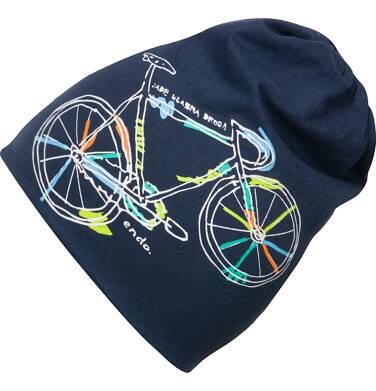Endo - Czapka wiosenna dla chłopca, z rowerem C03R007_1