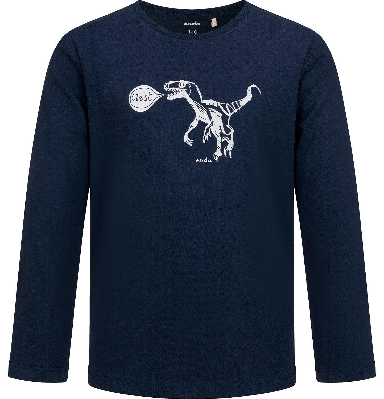 Endo - T-shirt z długim rękawem dla chłopca, z dinozaurem, 9-13 lat C04G135_1