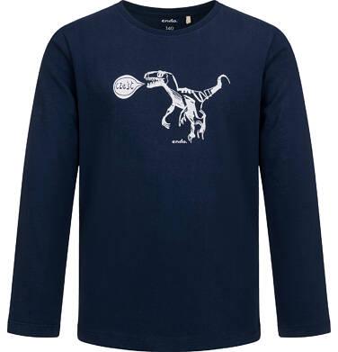 Endo - T-shirt z długim rękawem dla chłopca, z dinozaurem, 9-13 lat C04G135_1,1