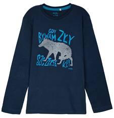 T-shirt z długim rękawem dla chłopca 9-12 lat C62G599_2