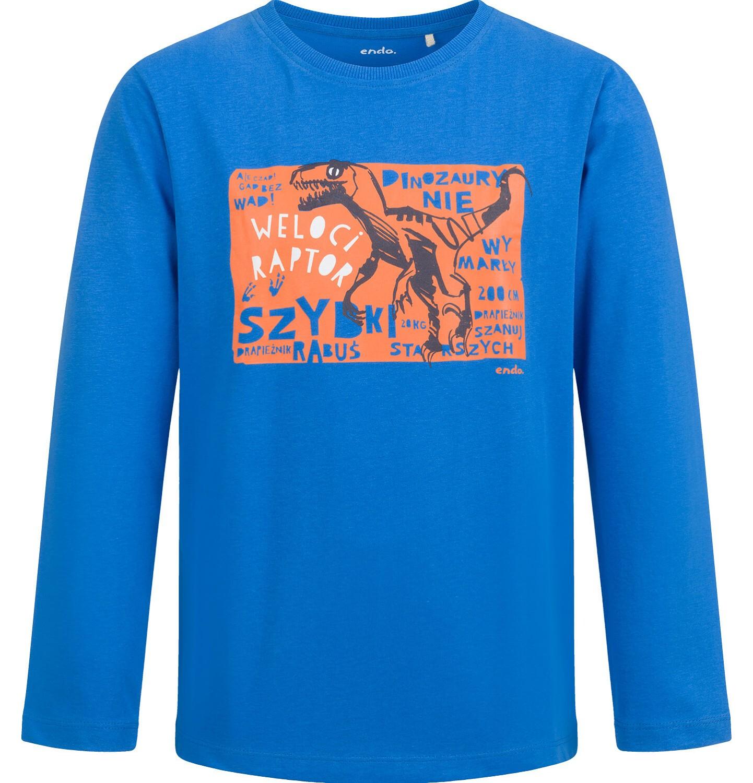 Endo - T-shirt z długim rękawem dla chłopca, z dinozaurem, 9-13 lat C04G137_1