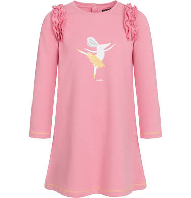 Endo - Sukienka z długim rękawem dla dziewczynki 3-8 lat D92H047_1