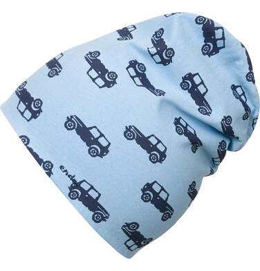 Endo - Czapka wiosenna dla chłopca, niebieska w samochody C03R011_1