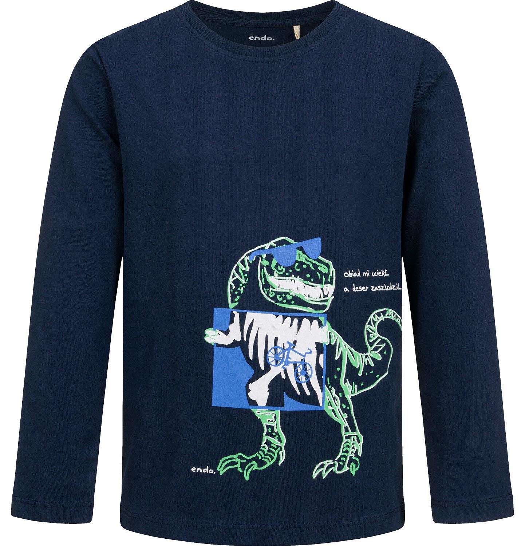 Endo - T-shirt z długim rękawem dla chłopca, z dinozaurem, 9-13 lat C04G138_1