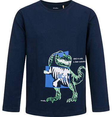 Endo - T-shirt z długim rękawem dla chłopca, z dinozaurem, 9-13 lat C04G138_1 21