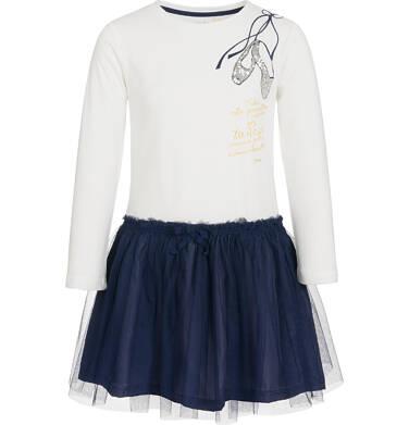 Endo - Sukienka z długim rękawem dla dziewczynki, z tiulowym dołem, 3-8 lat D92H045_1