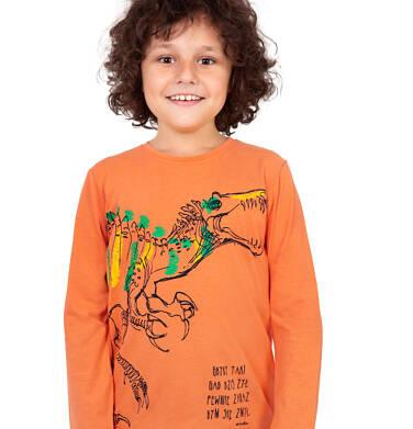 Endo - T-shirt z długim rękawem dla chłopca, z dinozaurem, 9-13 lat C04G141_1 23