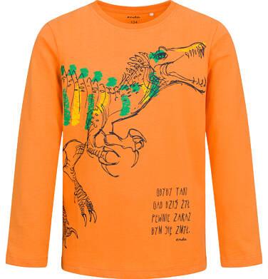Endo - T-shirt z długim rękawem dla chłopca, z dinozaurem, 9-13 lat C04G141_1 12