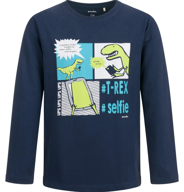 Endo - T-shirt z długim rękawem dla chłopca, z dinozaurem, 9-13 lat C04G142_1