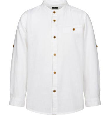 Endo - Koszula z długim rękawem dla chłopca, ze stójką, biała, 2-8 lat C03F008_2 3