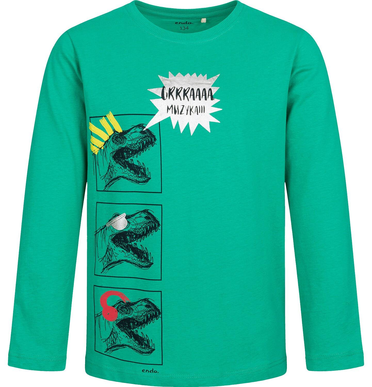 Endo - T-shirt z długim rękawem dla chłopca, z dinozaurami, 9-13 lat C04G143_1