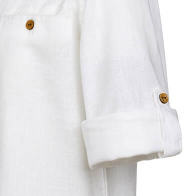 Endo - Koszula z długim rękawem dla chłopca, ze stójką, biała, 9-13 lat C03F508_2 1