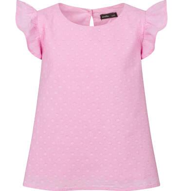 Koszula z krótkim rękawem dla dziewczynki, w kropki, różowa, 2-8 lat D03F005_1