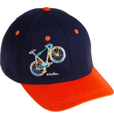 Endo - Czapka z daszkiem dla chłopca, z rowerem, granatowa C06R010_1 26