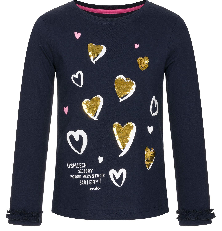 Endo - Bluzka z długim rękawem dla dziewczynki 3-8 lat D92G035_2