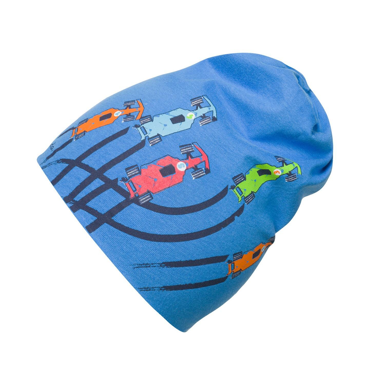 Endo - Czapka dla dziecka do 2 lat, w samochody, niebieska N03R020_1
