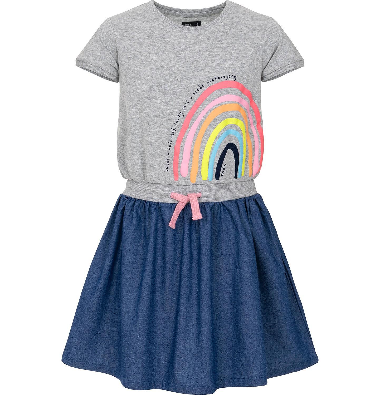 Endo - Sukienka z krótkim rękawem dla dziewczynki 3-8 lat D91H010_1