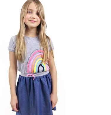 Sukienka z krótkim rękawem dla dziewczynki 3-8 lat D91H010_1