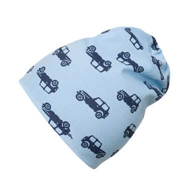 Endo - Czapka dla dziecka do 2 lat, deseń w samochody, niebieska N03R022_1