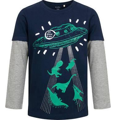 Endo - T-shirt z długim rękawem dla chłopca, ze statkiem kosmicznym, 9-13 lat C04G147_2,1