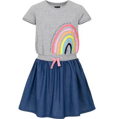 Endo - Sukienka z krótkim rękawem dla dziewczynki 9-13 lat D91H510_1