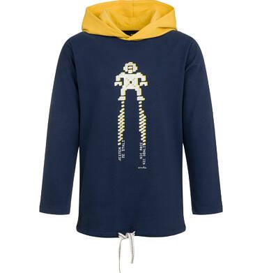 Endo - T-shirt z długim rękawem i kapturem dla chłopca, granatowy, 9-13 lat C04G162_1 2