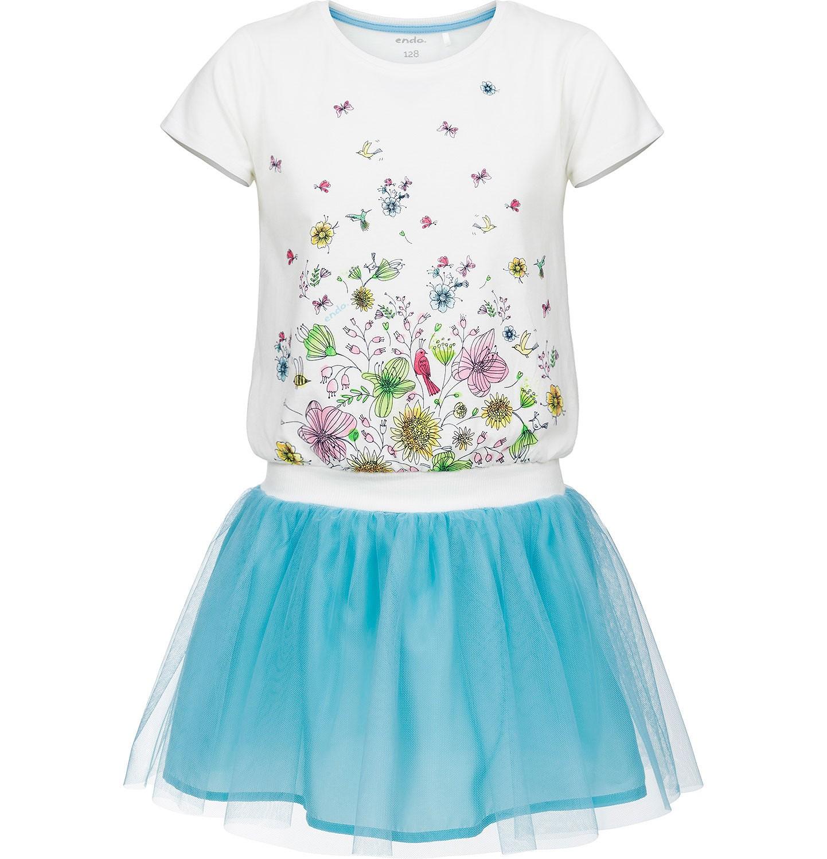 Endo - Sukienka z krótkim rękawem dla dziewczynki 3-8 lat D91H039_1