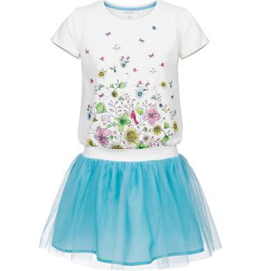 Sukienka z krótkim rękawem dla dziewczynki 3-8 lat D91H039_1