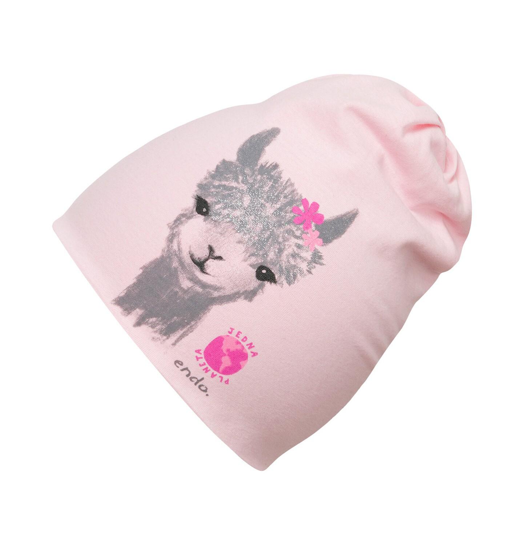 Endo - Czapka dla dziecka do 2 lat, z lamą, różowa N03R025_1