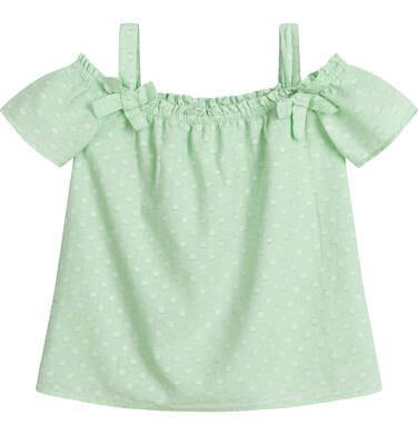 Endo - Koszula na ramiączkach dla dziewczynki, w kropki, miętowa, 2-8 lat D03F012_1