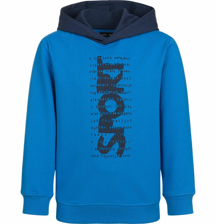 Endo - Bluza z kapturem dla chłopca, sport, niebieska, 2-8 lat C03C005_1